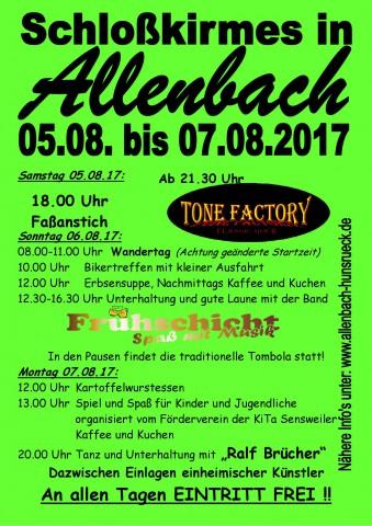 Allenbacher Schloßkirmes 2017