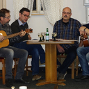 Holger Sonnabend, Immanuel Klein, Hans Becker und Frank Arth luden die Senioren ein mit ihnen gemeinsam ein paar Weihnachtslieder zu singen.